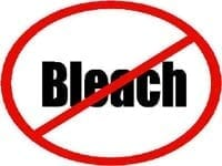 Do not use bleach to clean mold!
